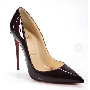 Christian Louboutin parent leather pumps 37.5 7.5